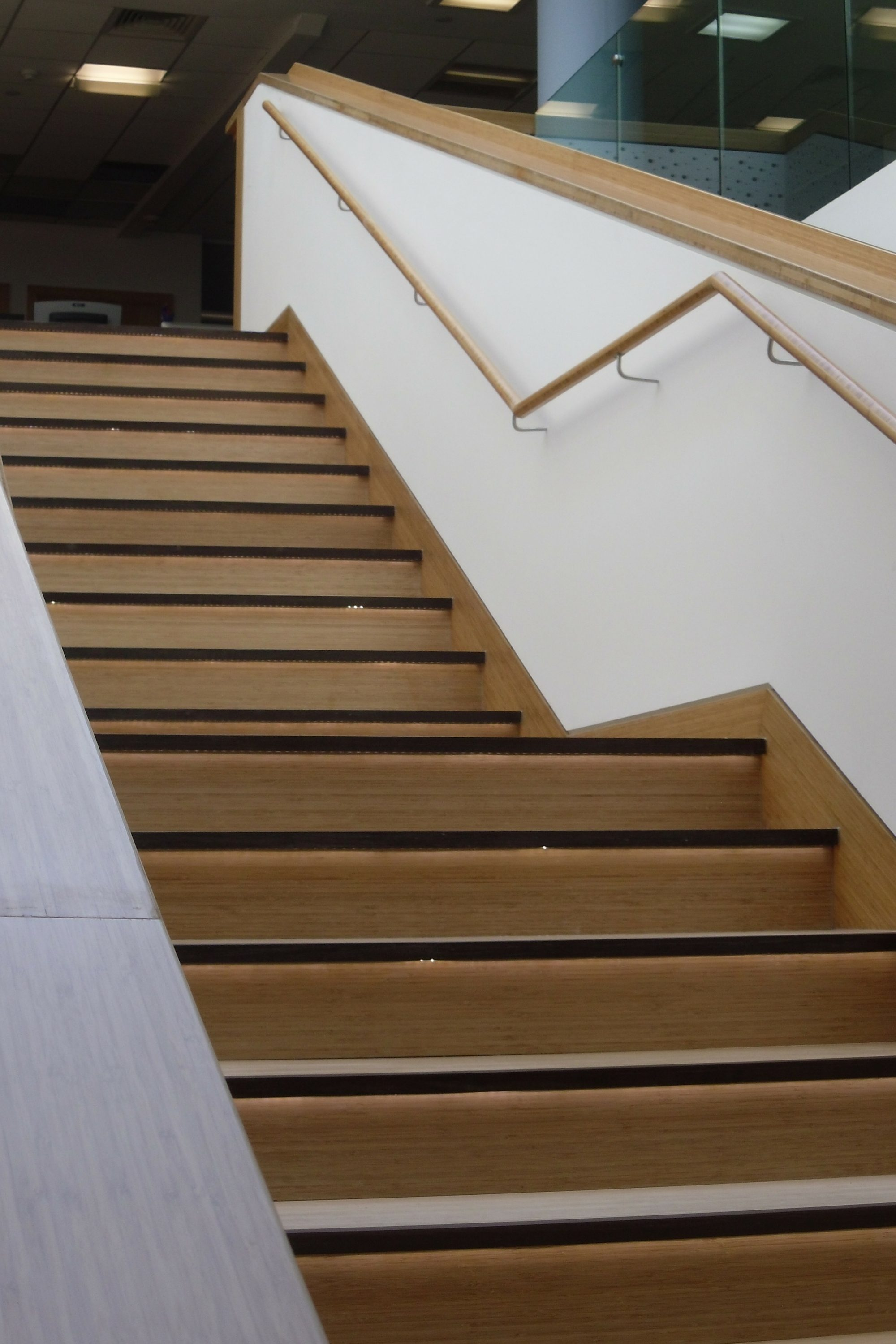 Straight office fit out stair