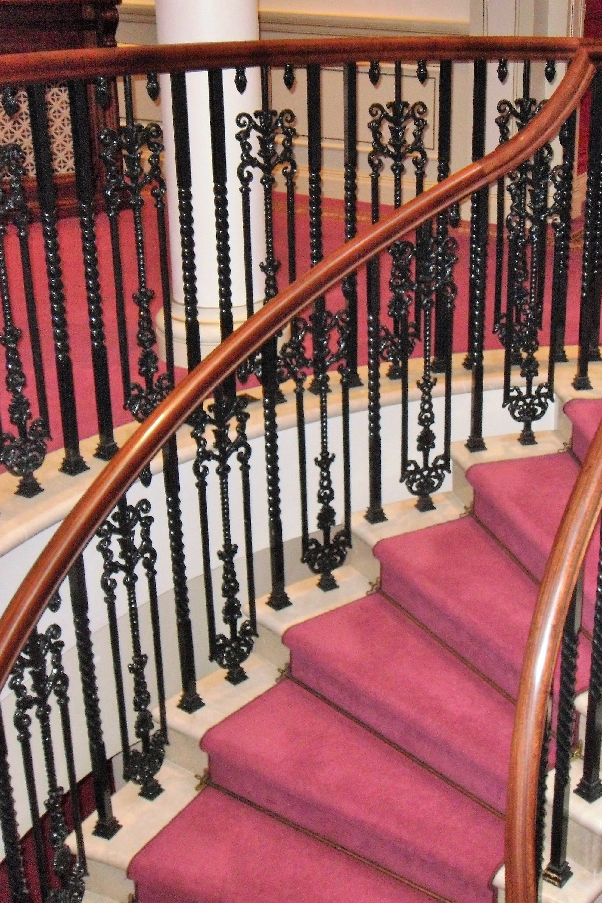 Balustrade on stairs in the London Palladium