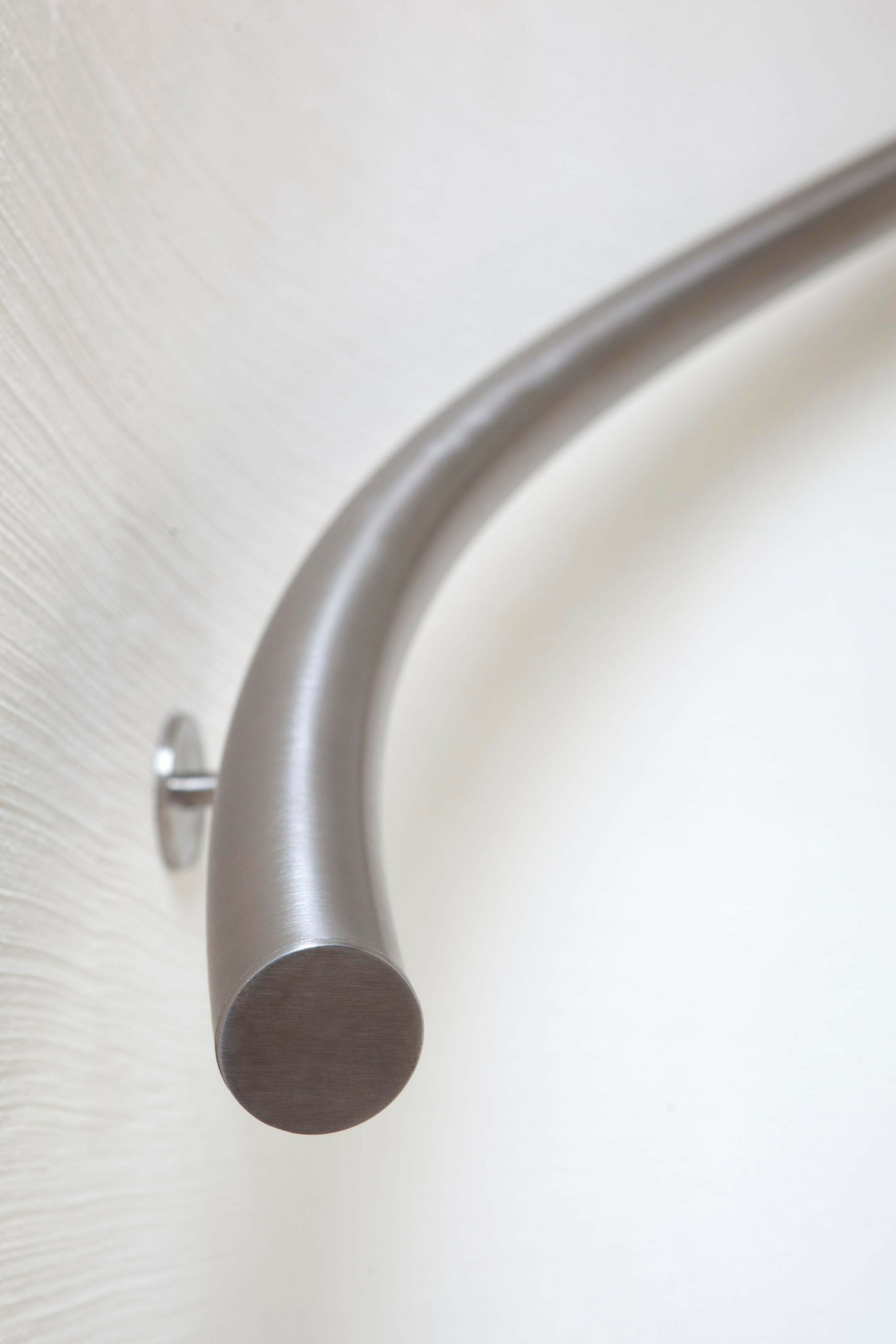 Satin polished stainless steel handrail