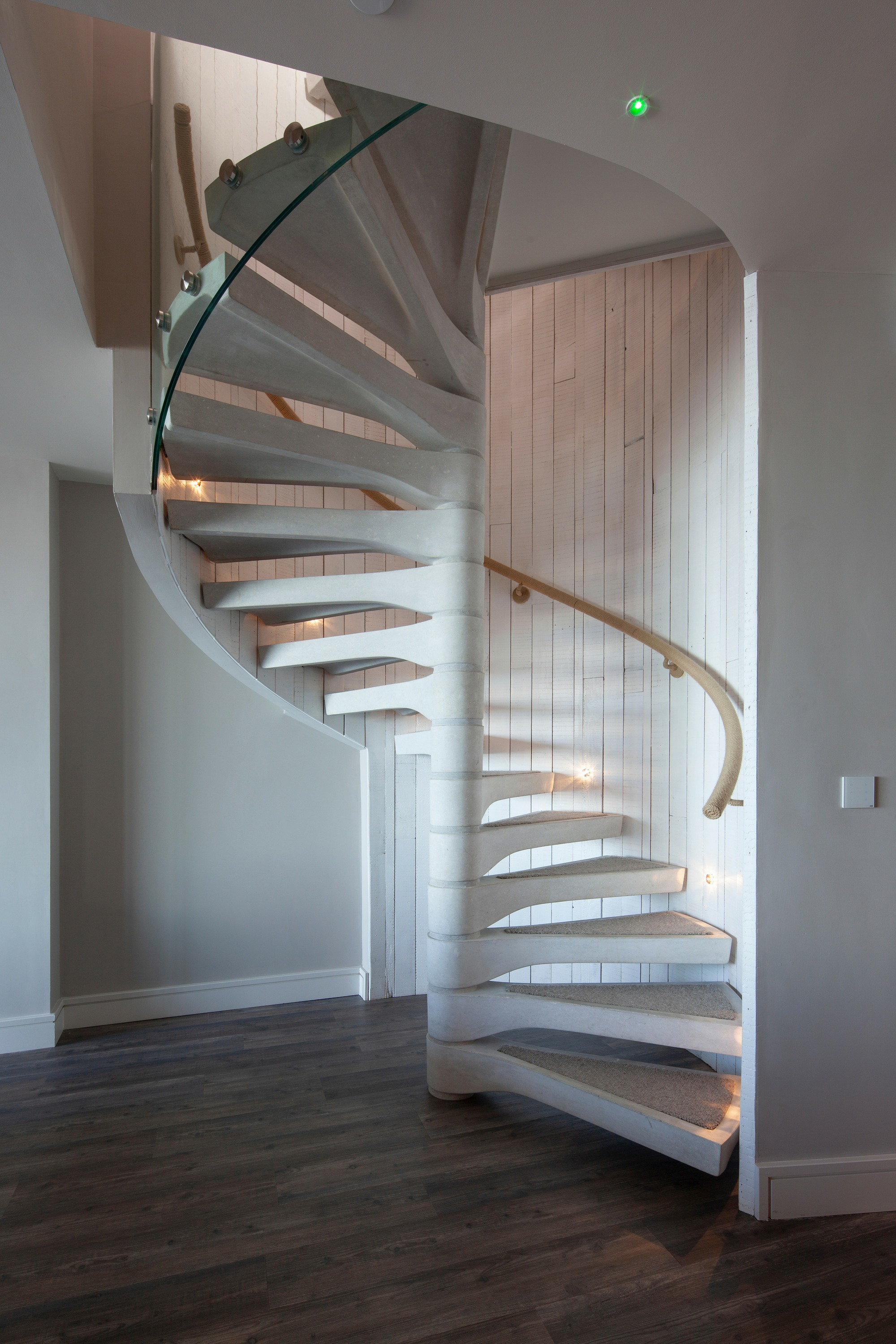 Beautiful concrete spiral staircase