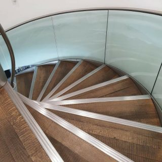 Spiral staircase in an office