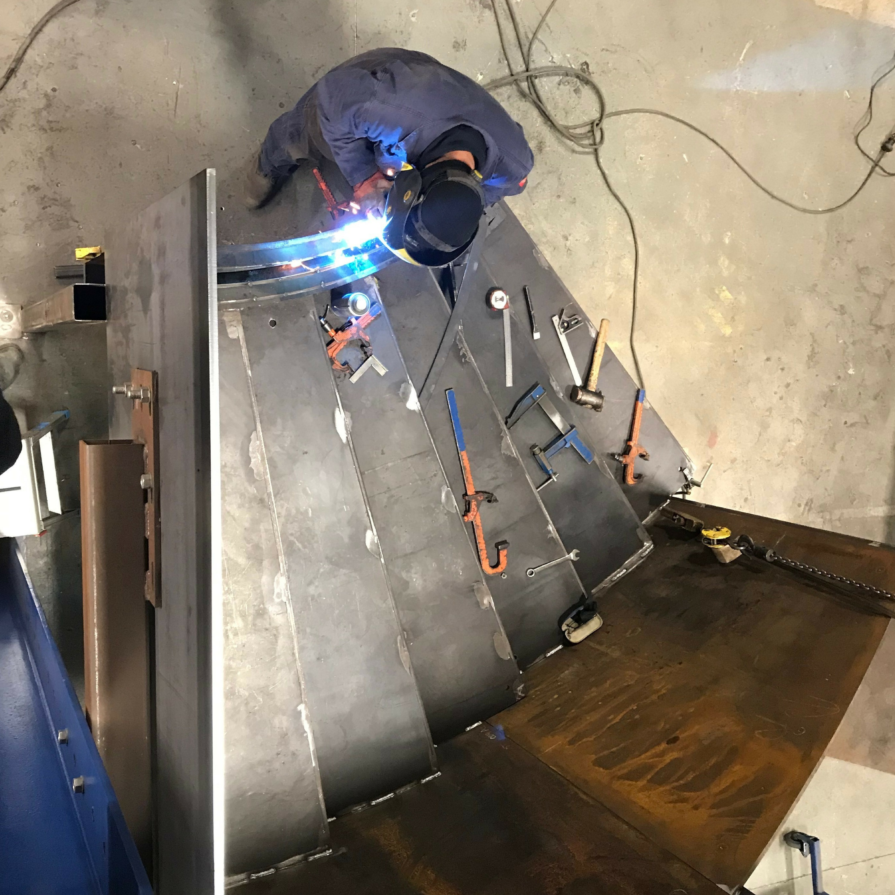 Welding a staircase