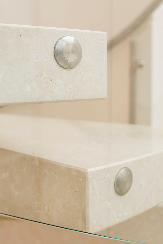 Botticino Italian marble tread