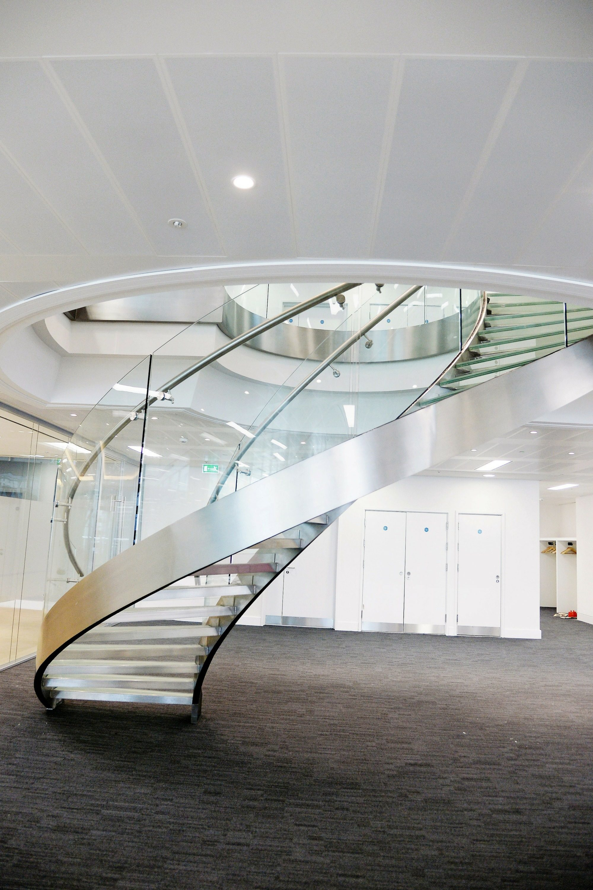 Helical office stair