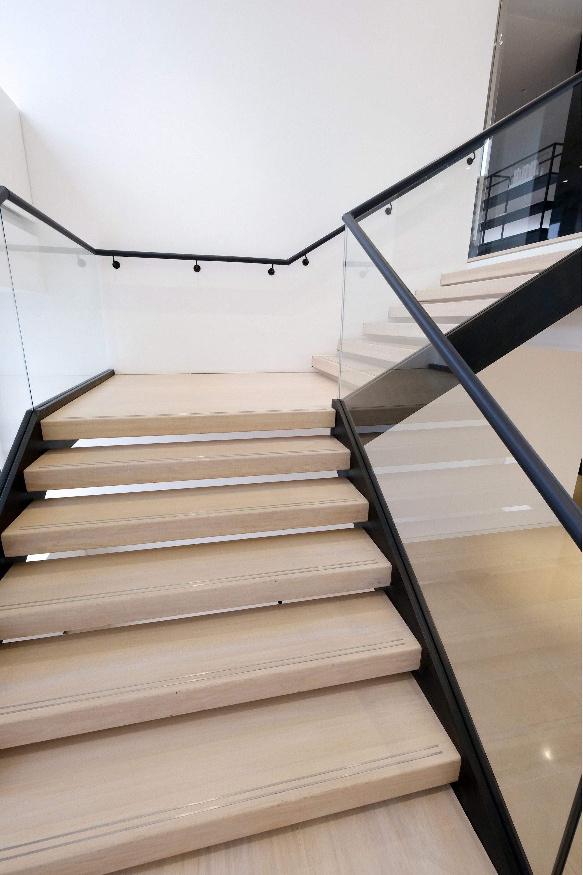 Straight fit out stair
