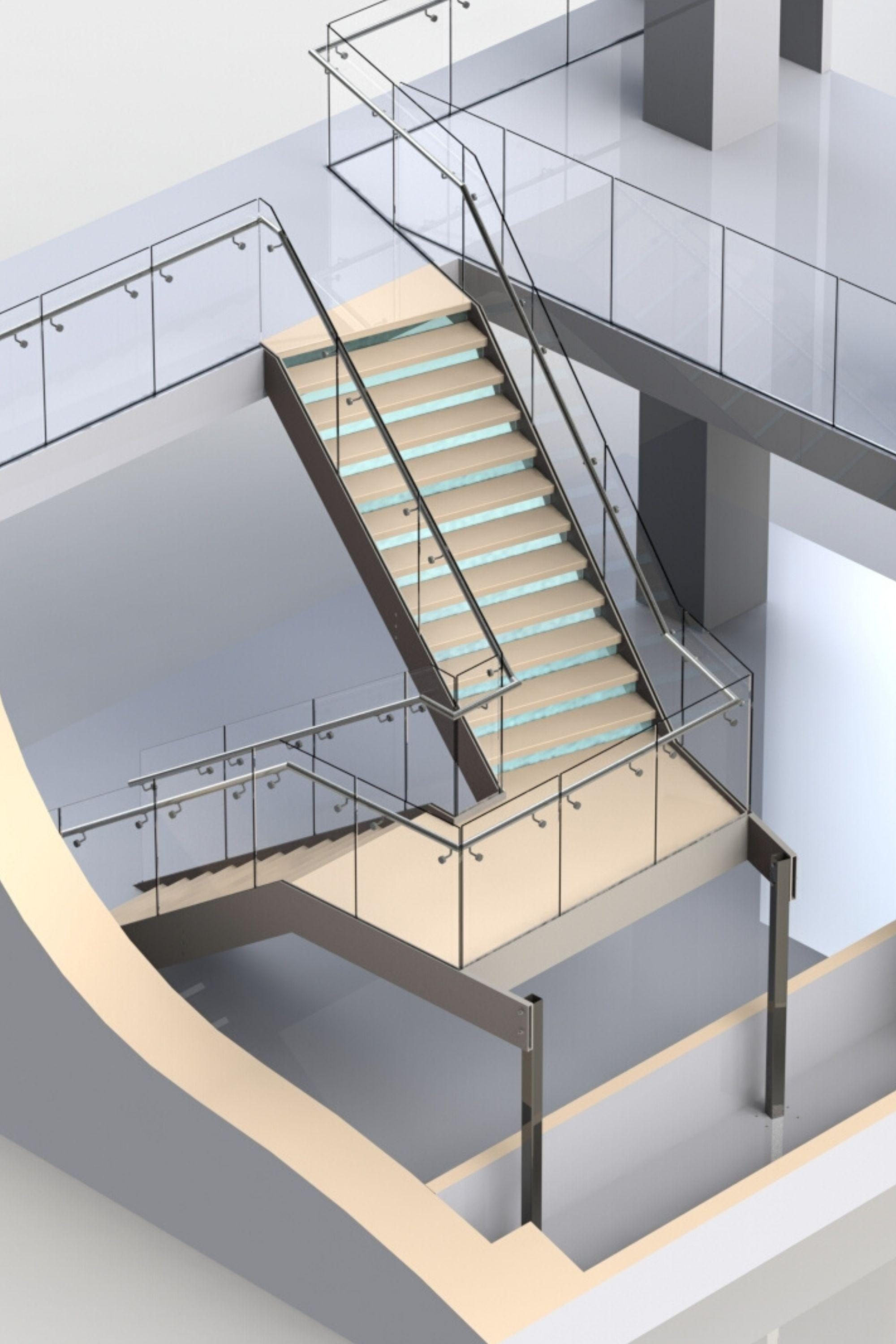 Render of staircase design