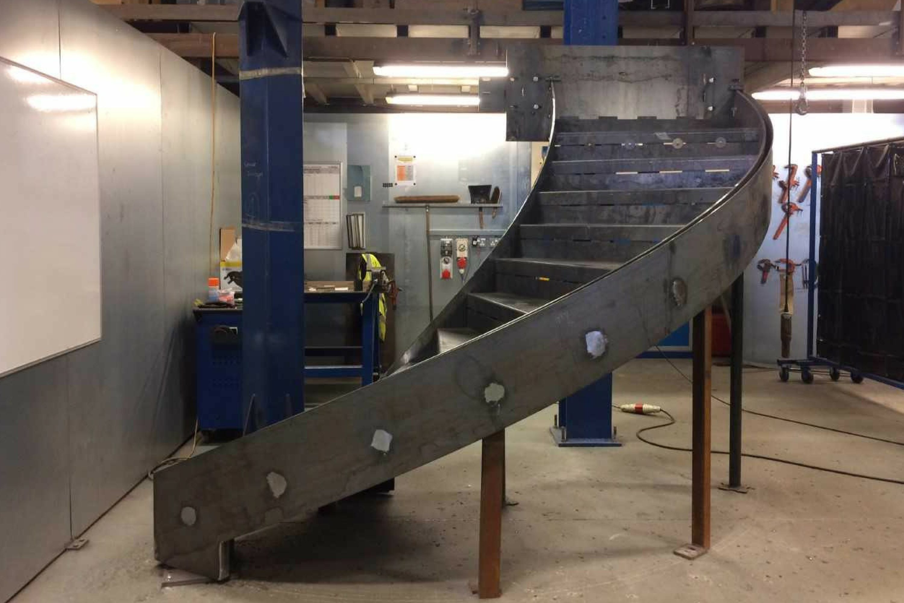 part built steel staircase